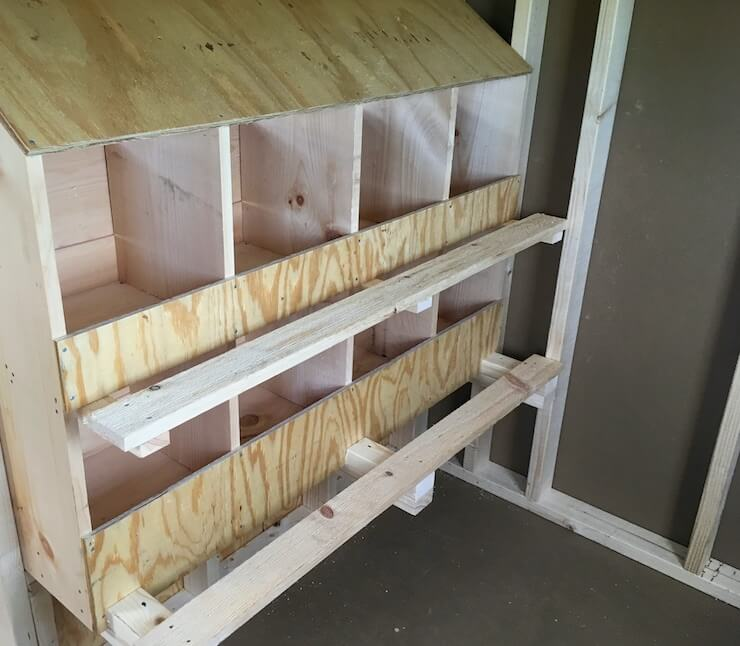Building Chicken Nesting Boxes